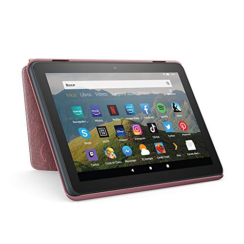 Amazon Funda para tablet Fire HD 8 (compatible con el tablet de 10.ª generación, modelo de 2020), malva
