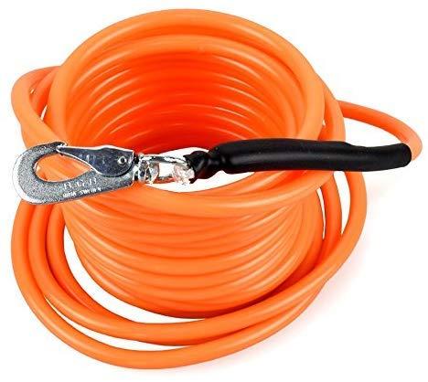Schleppleine aus Kunststoff | Ohne Handschlaufe | Robust, Schmutzabweisend | Verschiedene Längen | Orange, 10m