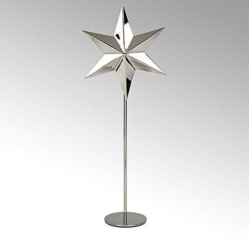 Lambert - Teelichhalter, Kerzenhalter - Tashi - Stern - stehend - groß - vernickelt - Höhe 45 cm