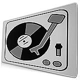 QINCO Grande Juego de Azar Alfombrilla de Ratón-75 x 40cm,Tocadiscos Música Disco De Vinilo DJ,Alfombrilla de Teclado con Bordes Cosidos para el Cojín de Escritorio de la Computadora Portátil