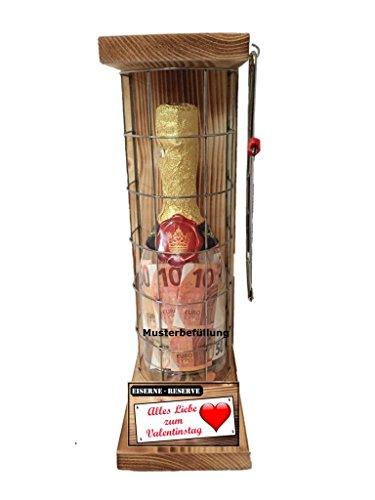 Alles Liebe zum Valentinstag - Die Eiserne Reserve Geldgeschenk incl. Säge zum zersägen des Gitter- Das witziges originelles lustiges Valentins Geschenk