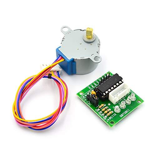 LKK-KK 5V 4-Phasen-Schrittmotor + Treiberplatine ULN2003 mit Antriebs-Testmodul Maschinenbrett für Arduino Raspberry PI Kit S