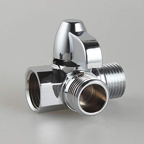 Válvula de ducha de derivación de cobre de tres vías válvula de control de agua sólida presurizada válvula de cierre de cabeza de lotería