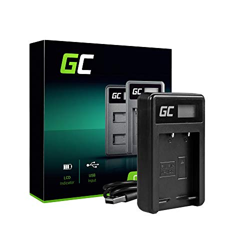 Green Cell® BC-W126 Cargador para Fujifilm NP-W126S Batería y FinePix HS30EXR HS33EXR HS35EXR HS50EXR X-A1 X-A2 X-A3 X-E1 X-E2 X-E2S X-M1 X100F X-Pro1 X-Pro2 X-T1 X-T2 Cámaras (5W 8.4V 0.6A Negro)