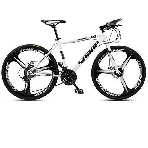 AISHFP 24 Pulgadas de Bicicletas de montaña, Bicicletas de Marco Doble Freno de Disco de Acero de Alto Carbono /, Playa de Motos de Nieve de Bicicletas, Ruedas de aleación de Aluminio