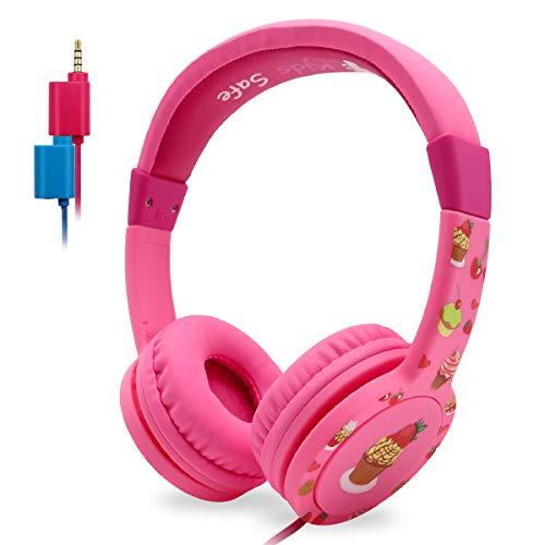EasySMX Leicht-Kopfhörer, KM-669 Kinderkopfhörer verdrahtete 85dB Lautstärke begrenzt mit Mic Kopfhörer Splitter 3,5 mm Klinke Inline Steuerung Über-Ohr Kopfhörer
