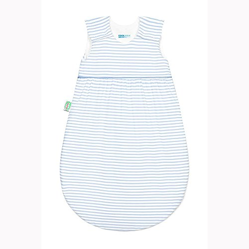 "Odenwälder Jersey-Schlafsack ""Timmi Cool"" Stripes cool blue Gr. 110"