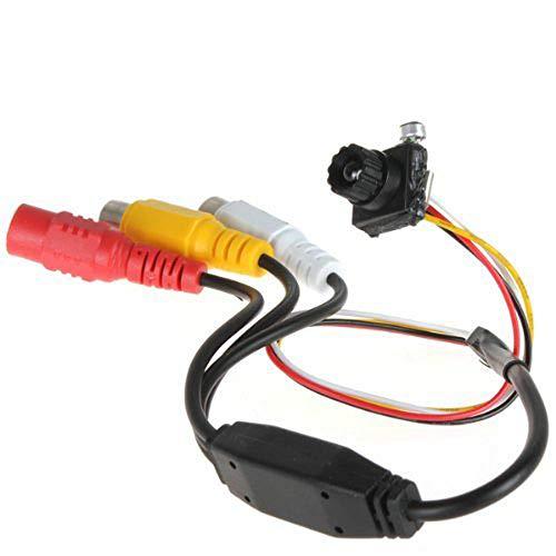 BW 6mm lente Digital CMOS cámara de vigilancia CCTV mini 600TVL Sensor de imagen 1/4pulgadas ph3299convertir con 1280x 960Resolución y 5megapíxeles estenopeica CCTV cámara de vídeo para vigilancia en interiores TV estándar