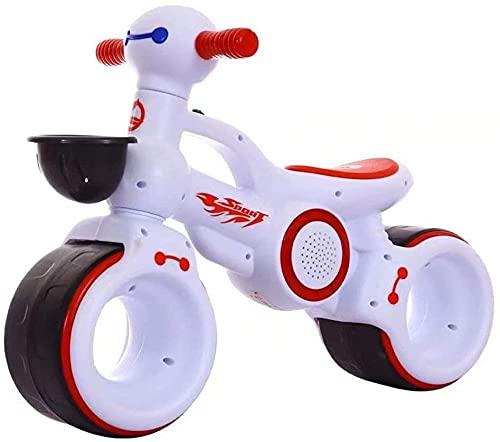 Baby Balance Bike Ride on Bikes Niños Bicicleta deslizante Bicicleta 4 Ruedas Trike Niño Caminante Color Rojo 1-3 Años Blanco