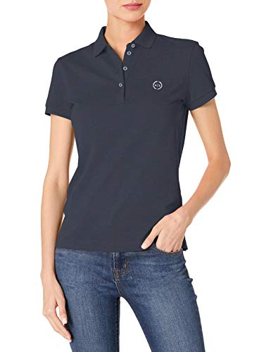 Armani Exchange Shirt Camisa, Azul Marino, XS para Mujer