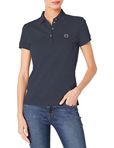Armani Exchange Shirt Camisa, Azul Marino, XL para Mujer