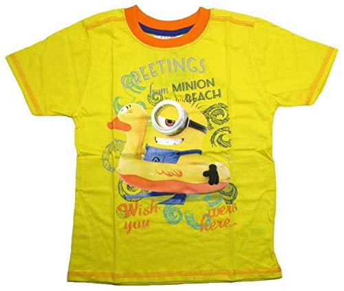 Minions - Despicable Me Jungen Kurzarm Shirt Kinder T-Shirt Buben Ich einfach unverbesserlich (gelb, 116)