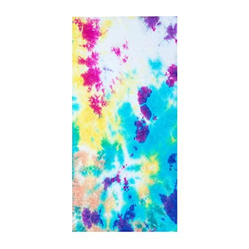 NTtie Toalla de Playa de Microfibra,Toalla de Piscina Grande Esterilla de Yoga, Toalla de Playa Cuadrada Color Tie-Dye