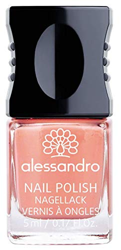alessandro Nagellack Feel Free/Northern Beauty Kollektion - langanhaltender Nagellack in Apricot, 5 ml