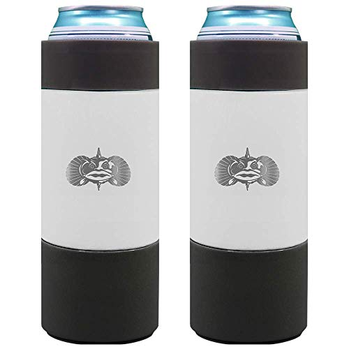 Toadfish Slim Non-Tipping Can Cooler for 12oz Cans - Suction Cup Cooler For Beer...