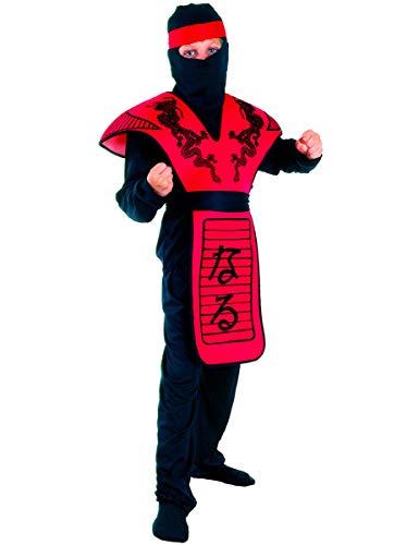 Générique Déguisement Ninja Dragon Rouge Garçon 7 - 9 Ans (M)