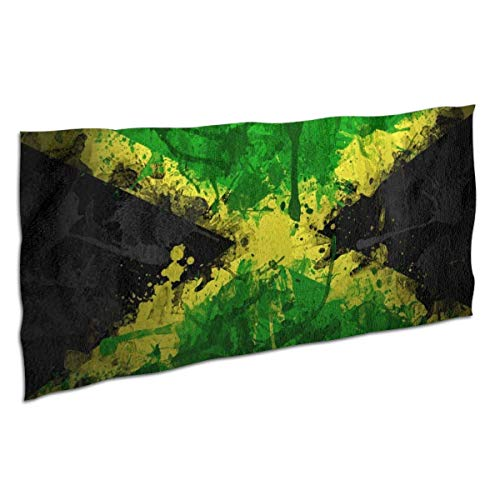 Toallas Bathroom Towels Toalla De Baño Dibujo Splash Jamaica Flag Art Green Shower Towels 80X130CM