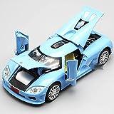 WJSM 1/32 para K-oenigsegg Die Cast Model Toy Vehicle Alloy Pull Back Sound Light Toys Coche Vehículos (Color : Blue)