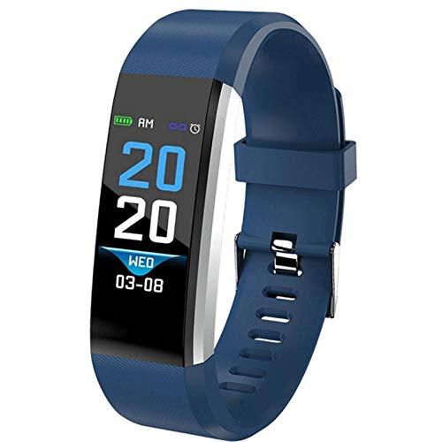CXSD Pulsera inteligente para seguimiento de actividad física, pulsera deportiva, pulsera inteligente, monitor de salud (color: azul)