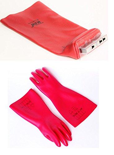 Bundle VDE Elektriker Handschuh Gr. 10 mit NH Aufsteckgriff Leder Stulpe 00 bis 4