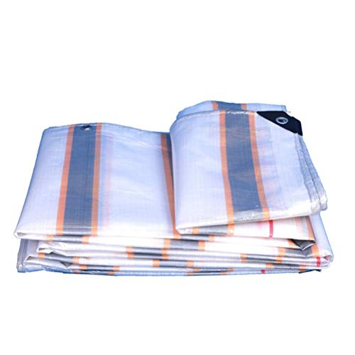 ZKORN Waterproof Tarpaulin, Tarpaulin Waterproof Tarpaulin Sheet Multi-purpose Rain And Sun Protection Tarpaulin Sheet Tricolor Direct-Solutions* Woven Polyethylene And Laminated