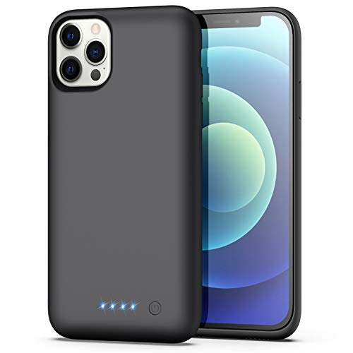 BOMT Battery Case for iPhone 12/12 Pro, Newest [6800mAh] Portable Charging Case Extended Battery Backup Pack for Apple iPhone 12/12 Pro Rechargeable Charger Case(6.1inch)- Black