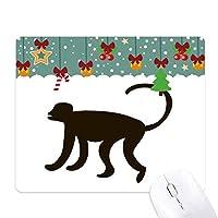 黒猿動物の描写 ゲーム用スライドゴムのマウスパッドクリスマス