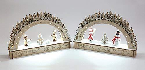 Rudolphs Schatzkiste Mini-LED-Lichterbögen für Batteriebetrieb, 1 pro Kauf 22x4x14cm NEU Schwibbogen Fensterbild