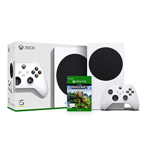 Xbox Series S - 512GB SSD Console with Wireless Controller, Minecraft Full Game - EU Console with US Adapter Cable