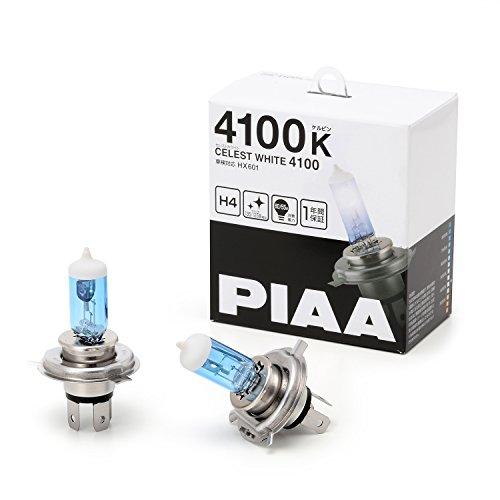 PIAA ハロゲンバルブセレストホワイト 4100K H4 12V60/55W 2個入り HX601