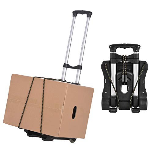 Xcellent Global Folding Luggage Cart, Compact Lightweight Durable Travel Trolley 40kg/88lbs Load Capacity for Luggage, Personal,Travel, Moving and Office Use (#3)