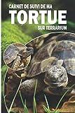 Carnet de suivi de ma tortue sur terrarium: Ayez avec vous le carnet idéal pour le suivi du quotidien de votre tortue | Format pratique 15 x 23 cm 100 pages | Contient des fiches à remplir