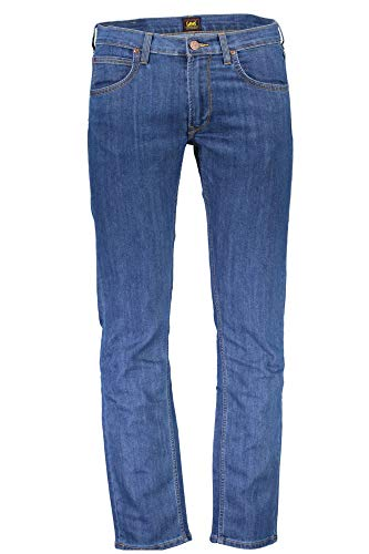Lee Daren Zip Jeans Straight, Blu (Authentic Blue Acax), W28/L34 Uomo