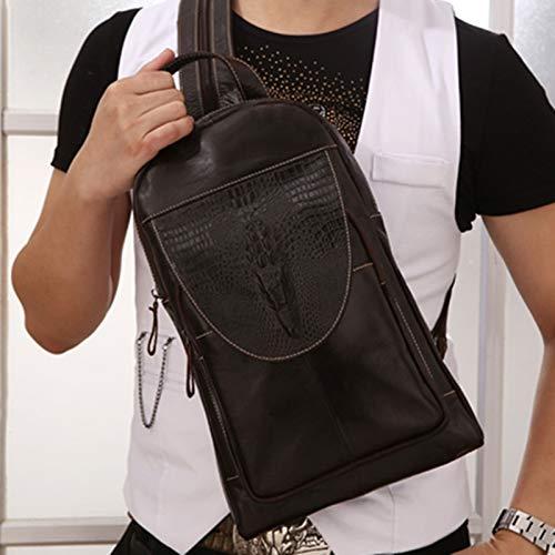 Yaceeng schoudertas van hoogwaardig echt leer voor heren, grote laptoptas van zacht vintage-leer