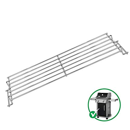 Uniflasy 69866 18 Inch Grill Warming Rack for Weber Spirit 200 Series, Spirit E210 S210 E220 S220 Gas Grills with Up Front Controls (2013 - Newer), Grill Upper Rack Grates for Spirit 200 Grill Parts Grill Racks