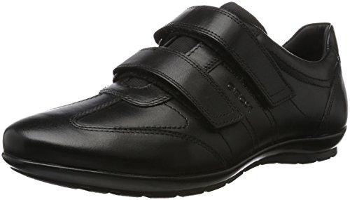 Geox UOMO Symbol D, Zapatos con Velcro para Hombre, Negro, 45 EU