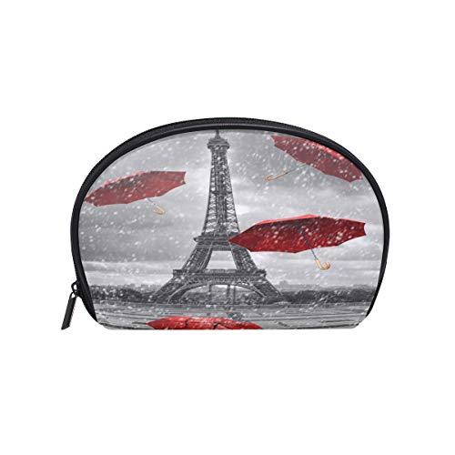 BIGJOKE Trousse de toilette et maquillage - Motif Paris Tour Eiffel - Avec compartiments - Unisexe