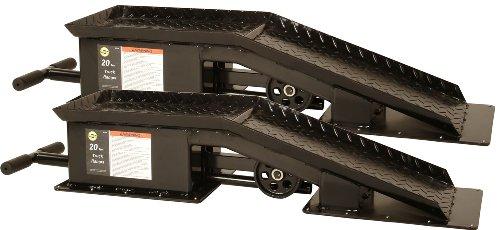 Omega 93200 Black Truck Ramp - 20 Ton covid 19 (20 Ton Wide Truck Ramps coronavirus)