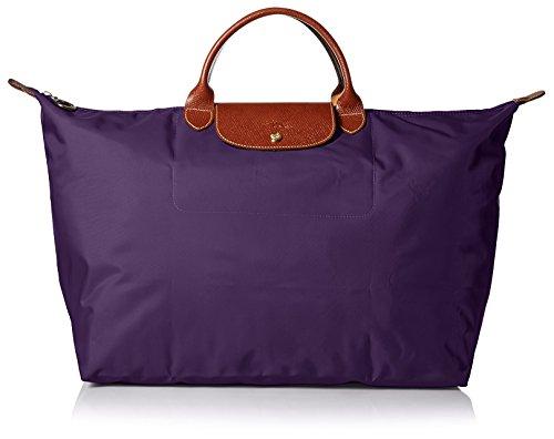 Longchamp Le Pliage Large Travel Bag, Bilberry, 17.75' x 13.75' x 9'
