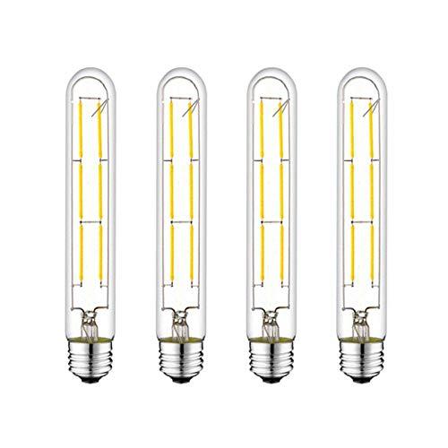 T10 Light Bulb,LED Edison Light Bulbs 60 Watt,4000K Neutral White 7.3in E26 Base Vintage Tubular Light Bulbs Dimmable (4-Pack)