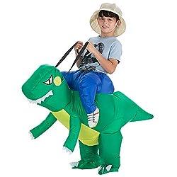 2. TOLOCO Kid's Inflatable T-Rex Dinosaur Rider Costume