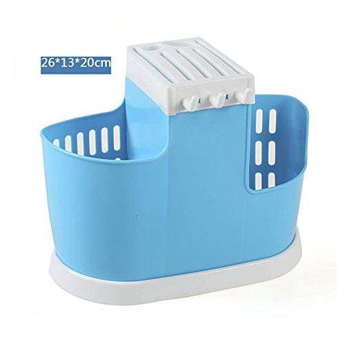 Find Discount Blue Fashionable Multi-functional Chopsticks Container Creative Plastic Drain Chopstic...
