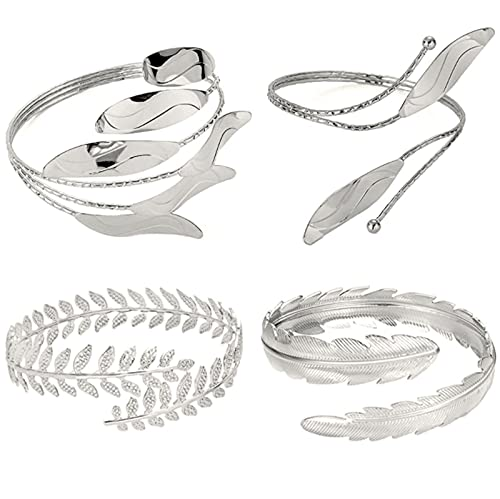 Miugwp 4 piezas de brazalete de apertura brazalete joyería graduación cumpleaños regalos de Navidad para mujeres amigos novia
