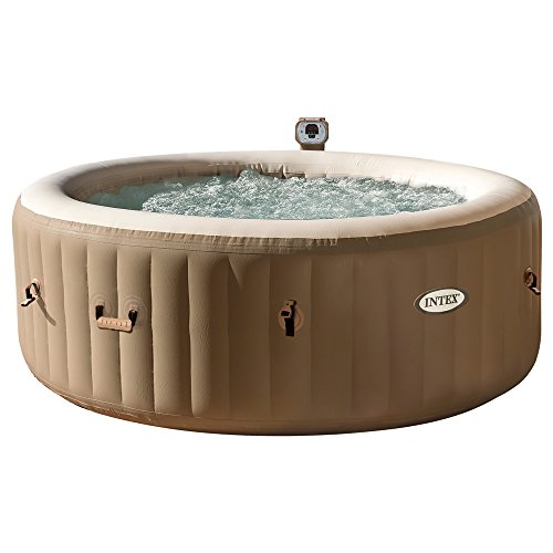 Intex 28408 Pure Spa Bubble Therapy con Pompa, 1098 Litri, Riscaldatore: 2000 Watt, Beige, 216x71 cm