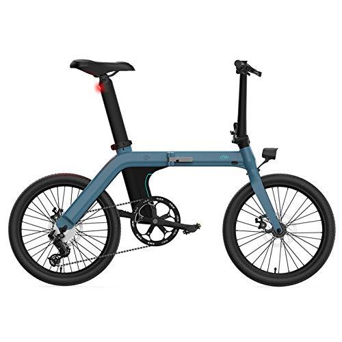 Bicicleta eléctrica Bicicletas eléctricas portátiles Plegables para Adultos, Peso Ultraligero de 12,9 kg, Pantalla LCD de neumáticos de 20 Pulgadas, 3 Modos de conducción