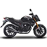 X-PRO 2020 Version Lifan KP 200 200cc Gas Motorcycle Adult EFI Sport Motorcycle Fuel Injection 17HP Street Motorcycle Bike Fully Assembled (Black)