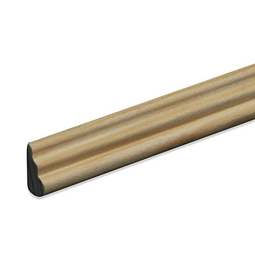 Profilleiste Zierleiste Abschlussleiste Bastelleiste aus geschliffenem Kiefer-Massivholz 2400 x 10 x 17 mm