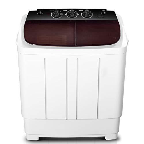 CLING Lavadora portátil y Secadora giratoria, Mini Lavadora, Dos tinas, Ideal para lavandería compacta