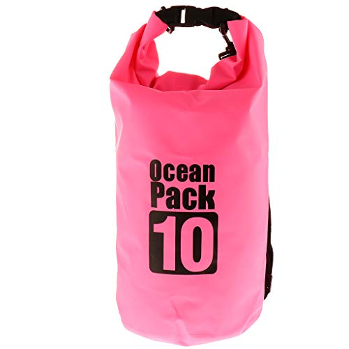 perfeclan Mochila Impermeable para Bolsa Seca Beach Bucket Rafting Kayak Canoa Bag -Fácil de Llevar - Rosado