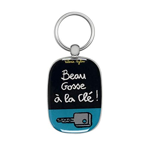 Porte-clés OPAT La clé - gris - Derrière la porte